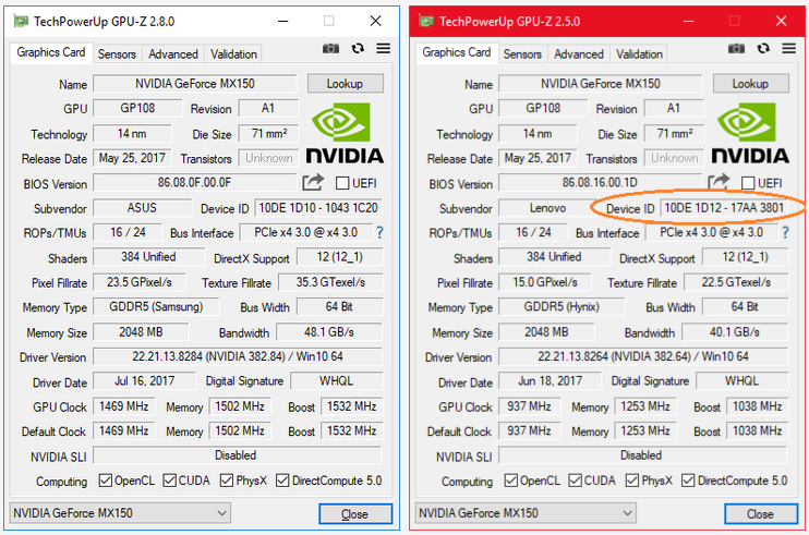 geforce mx130 vs gtx 1050