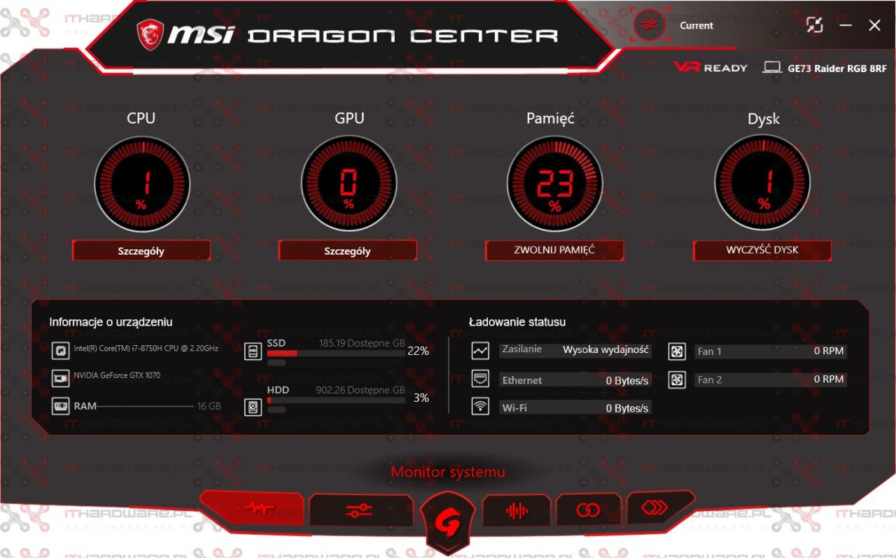Test MSI GE73 Raider RGB 8RF