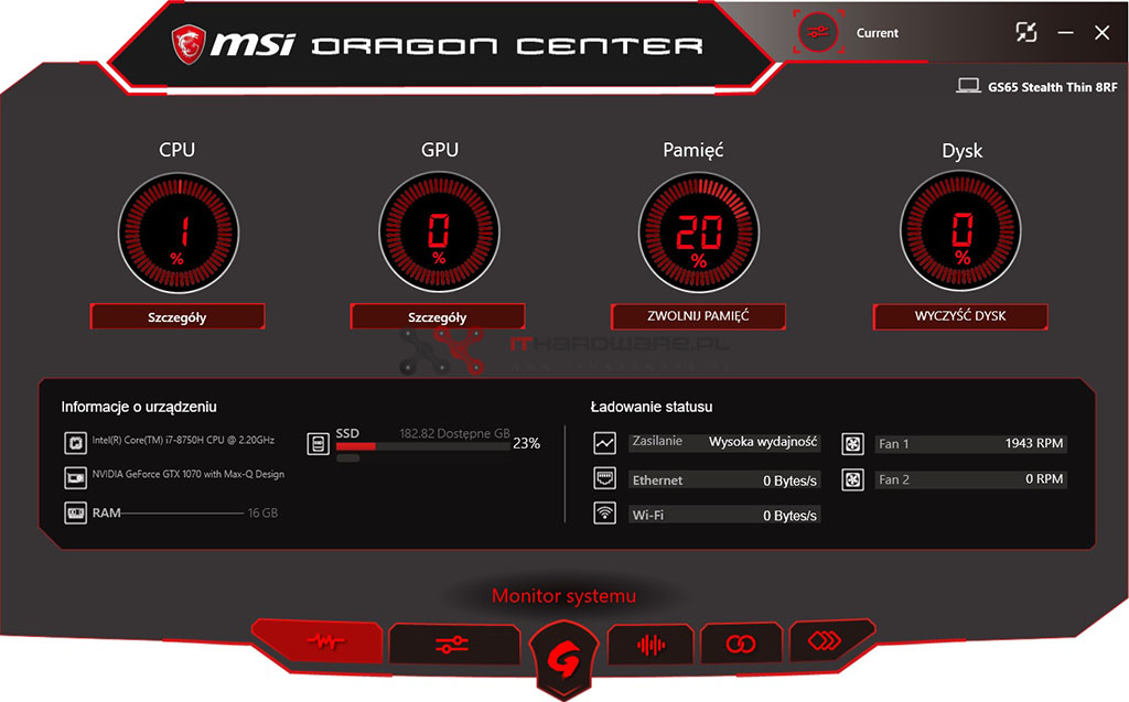 Test laptopa MSI GS65 Stealth Thin 8RF – Ultragamingbook?