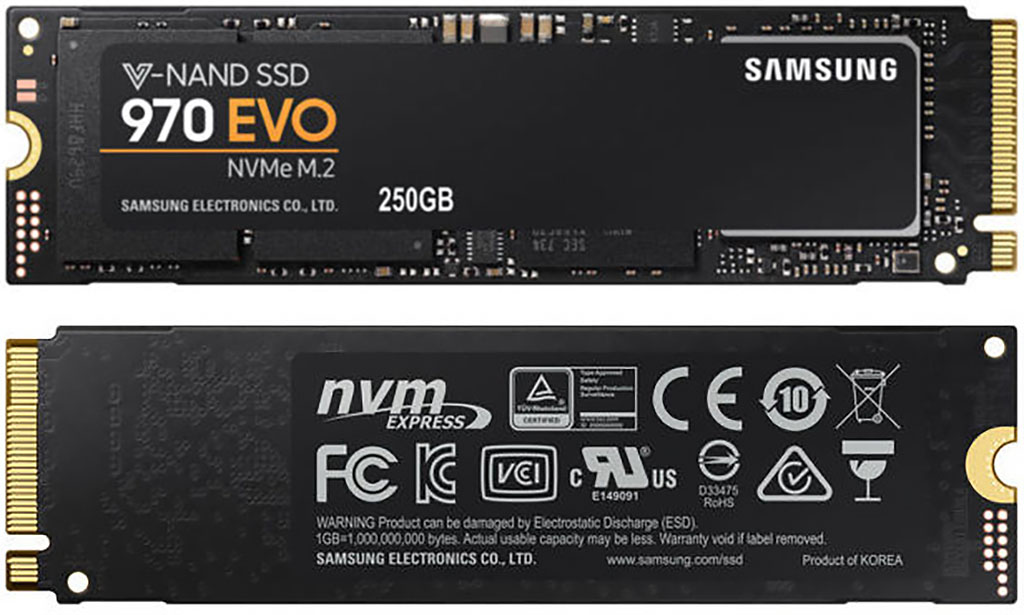 Samsung 970 EVO 250 GB – test