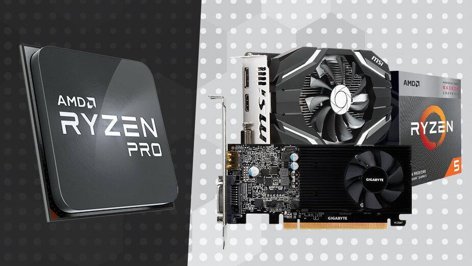 AMD Ryzen 3 PRO 4350G kontra Ryzen 5 3400G i tanie karty graficzne - test