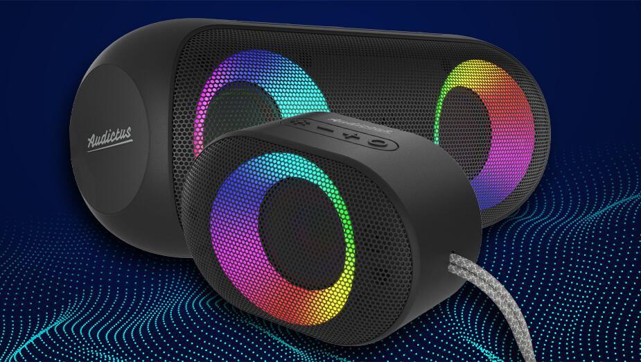 Audictus Aurora i Aurora mini - recenzja nietuzinkowych głośników Bluetooth z RGB