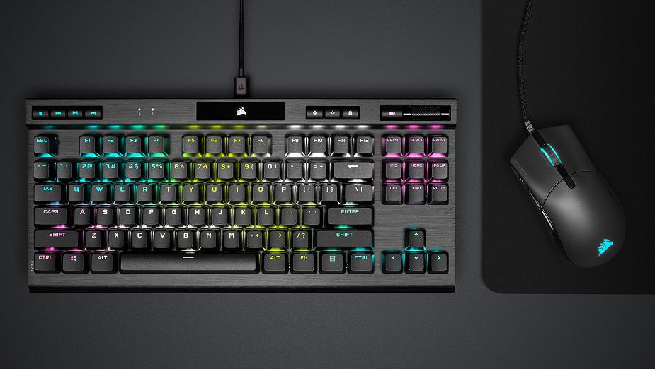 Corsair zaprezentował nowy sprzęt dla e-sportowców - klawiatury K70 RGB TKL oraz myszki Sabre PRO