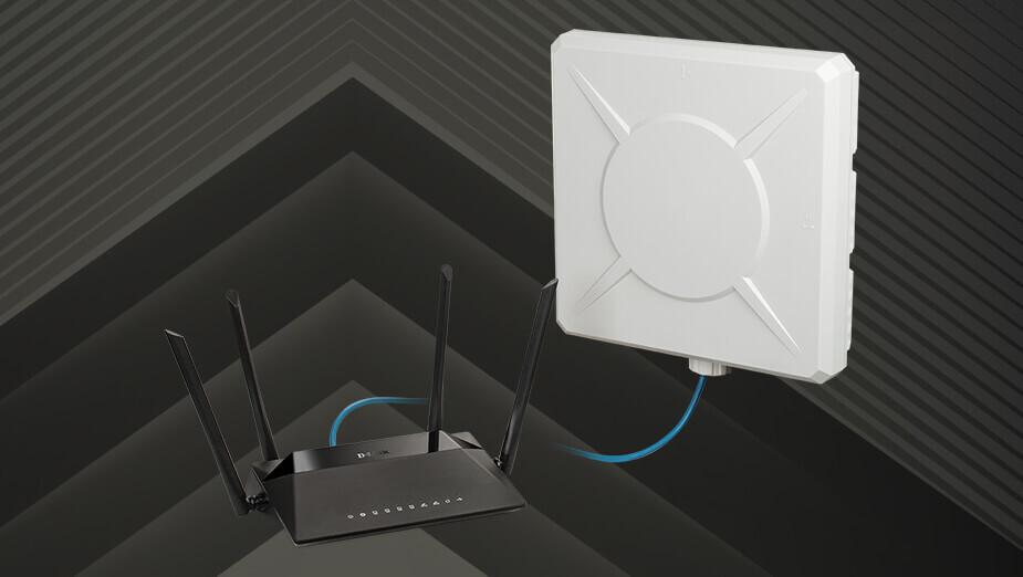 D-Link DWP‑812KT + DIR-825 - test zestawu LTE z anteną zewnętrzną