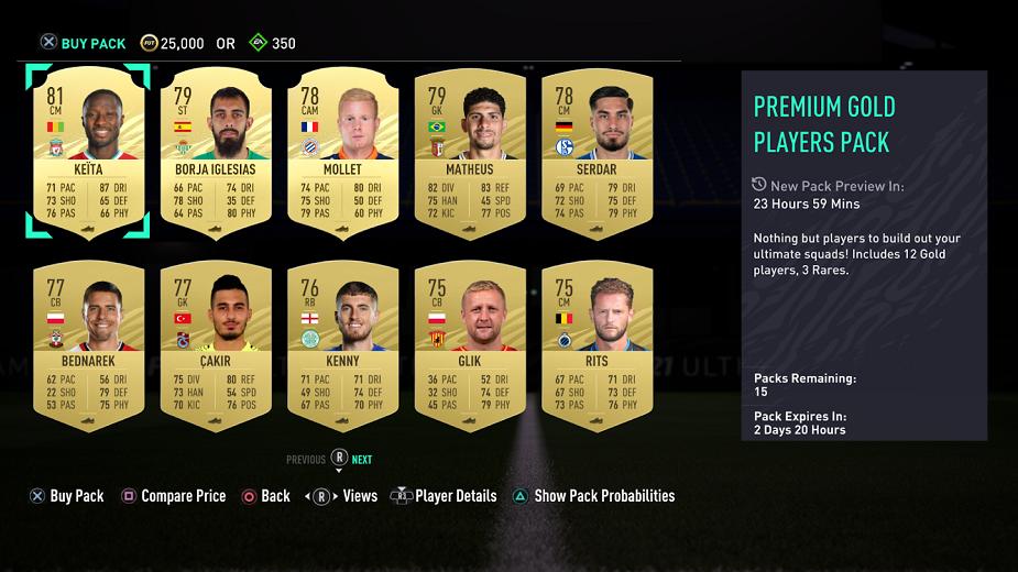 FIFA 21 - EA umożliwia sprawdzenie zawartości paczki przed jej zakupem