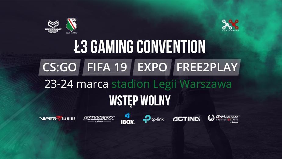 Ł3 Gaming Convention - wydarzenie dla fanów e-sportu na stadionie Legii