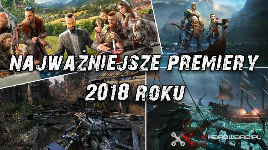 Najważniejsze premiery gier w 2018 roku
