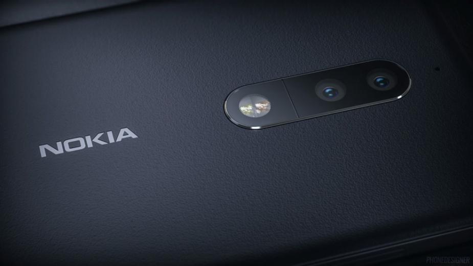 Nokia 9 (lub 10) z 5 aparatami z tyłu uchwycona na zdjęciach