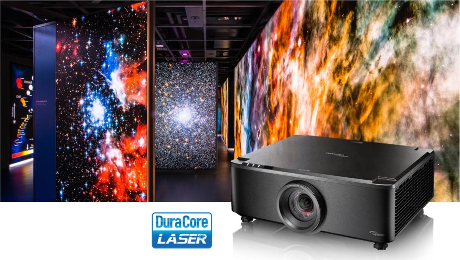 Optoma przedstawia laserowy projektor krótkiego rzutu o jasności 7000 lumenów ze stałą optyką
