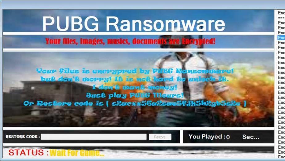 PUBG Ransomware szyfruje pliki użytkowników, którzy nie zagrali w PUBG