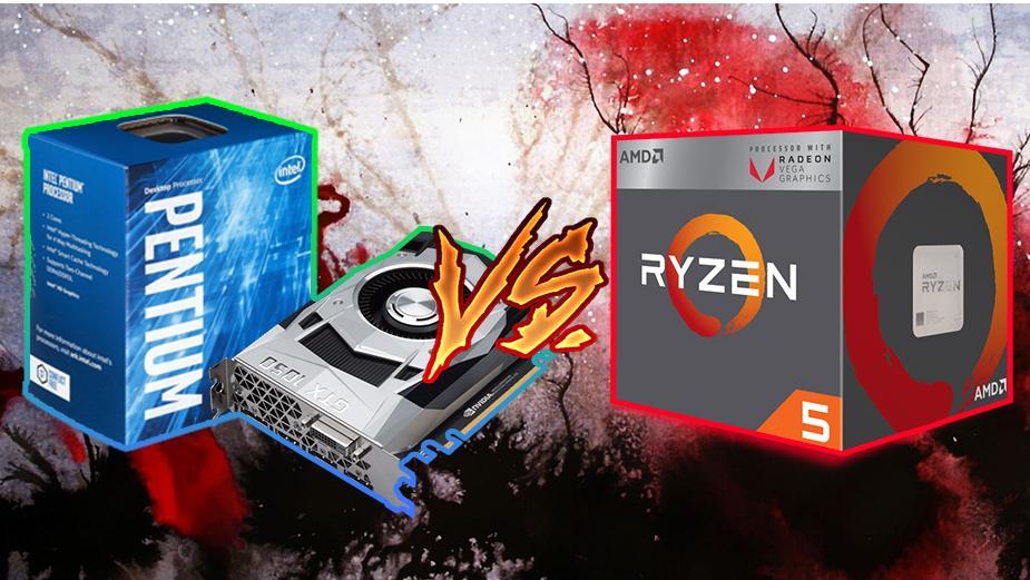 Ryzen 5 2400G vs Pentium G4600 i GeForce GTX 1050 – Test porównawczy