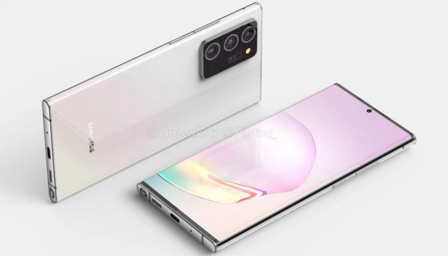 Samsung Galaxy Note 20 i Note 20+ zaprezentowane na renderach