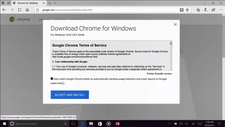 Wpadka na konferencji Microsoft - użyto Chrome, bo Edge się zawiesił