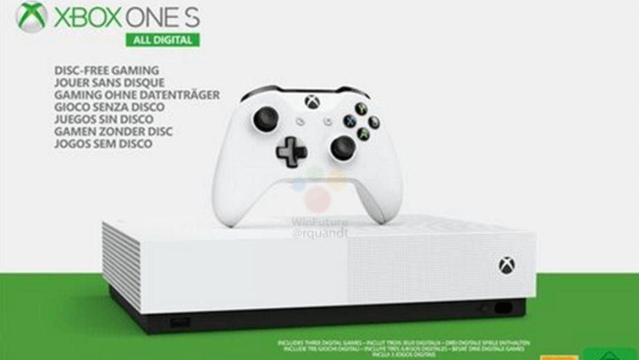 Xbox One S All Digital - wygląd, cena i specyfikacja nowej konsoli