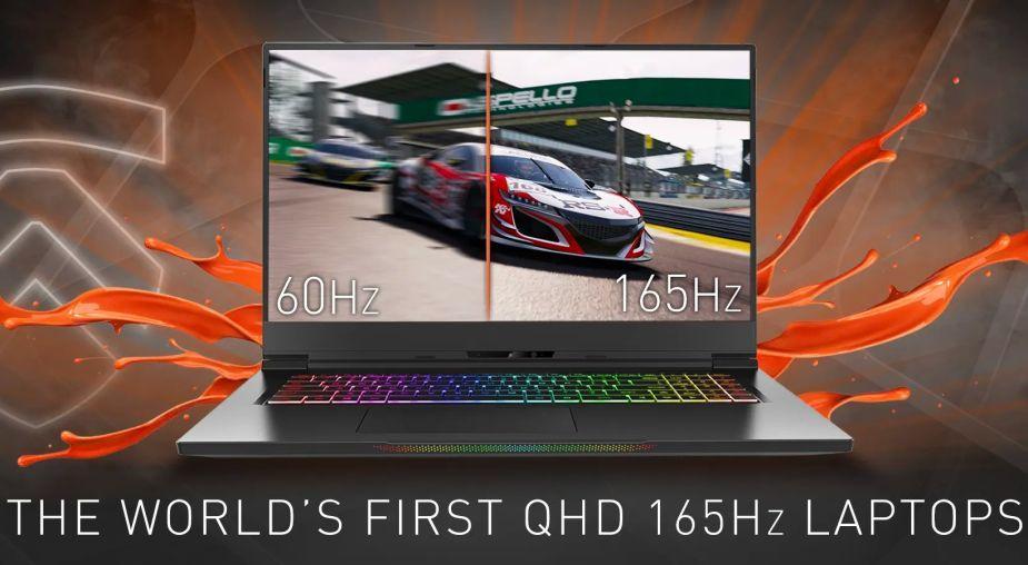 Zapowiedziano pierwsze laptopy z panelami QHD o odświeżaniu 165 Hz