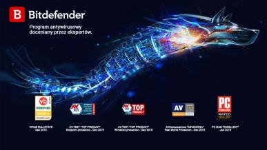 Programy antywirusowe marki Bitdefender otrzymują dwie prestiżowe nagrody