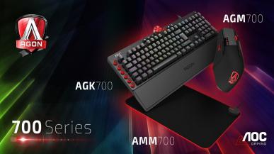 AOC prezentuje gamingowe klawiatury, myszki oraz podkładkę