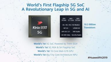 Huawei przedstawia Kirin 990 - flagowy SoC ze zintegrowanym modemem 5G