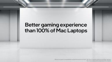 Intel: laptopy z naszymi procesoramizapewniająlepsze wrażenia w grach niż 100% laptopów Apple Mac