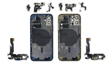 iPhone 12 i 12 Pro mają identyczne wyświetlacze i większość podzespołów
