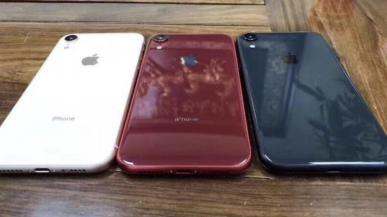 iPhone XC - 6,1-calowy model z panelem LCD uchwycony na zdjęciach