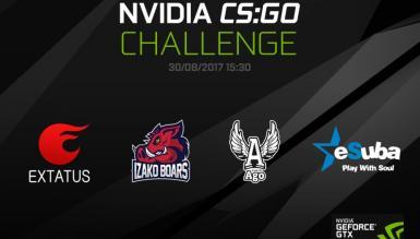 Izako Boars i AGO Gaming zagrają o 2500 dolarów w NVIDIA CS:GO Challenge