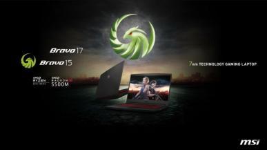 Laptopy MSI Bravo 15 i Bravo 17 - AMD z serii 4000 H i Radeon RX 5500M