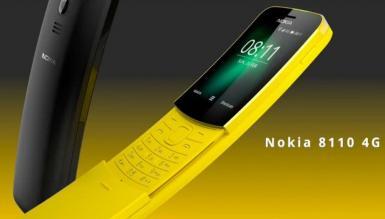 """Nokia 8110 4G - kultowy """"banan"""" powraca w nowej wersji"""