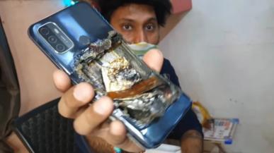 Smartfon Oppo A53 eksplodował w kieszeni spodni mężczyzny