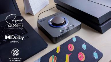 Sound Blaster X4: Zewnętrzna karta dźwiękowa USB, DAC i wzmacniacz USB Hi-res 7.1
