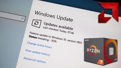 Windows 10 1903 - test poprawek schedulera dla procesorów AMD Ryzen