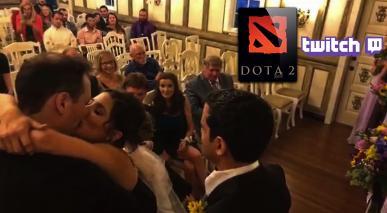 Znany streamer Doty 2 nadawał własną ceremonię ślubną na platformie Twitch