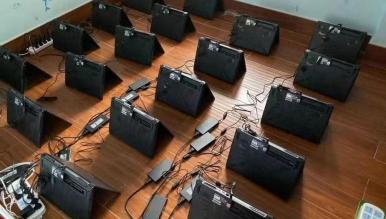 Zobaczcie najnowszą farmę kryptowalut złożoną z setek laptopów z kartami GeForce RTX 30